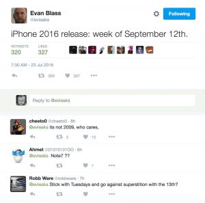 hvornår blev iphone 7 udgivet