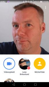 Google Duo, opkaldsvindue på Android (Foto: MereMobil.dk)