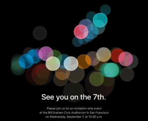 Invitation til Apple event 2016