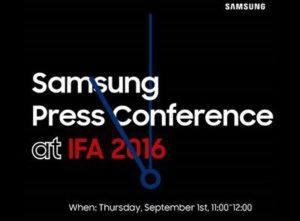 Samsung afholder event på IFA-messen 2016