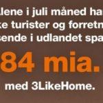 Besparelser i juli måned for danske turister og forretningsrejsende med 3LikeHome (Foto: 3)