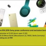Sony inviterer til event på IFA-messen 2016