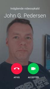 Google Duo, indgående opkald på iPhone (Foto: MereMobil.dk)