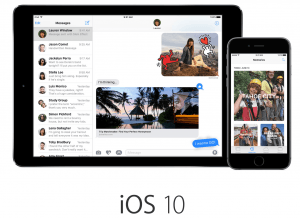 iOS 10 på iPhone og iPad