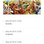Screenshots fra applikationen Rio 2016Screenshots fra applikationen Rio 2016
