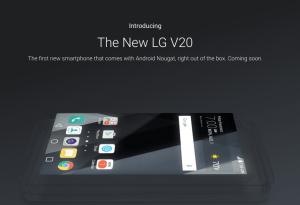 LG V20 bliver første telefon med Android 7.0 Nougat fra salgsæsken (Kilde: Google)