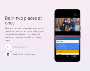 Multi-window funktionen i Android 7.0 Nougat (Kilde: Google)