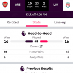 Screenshots fra Premier League applikationen