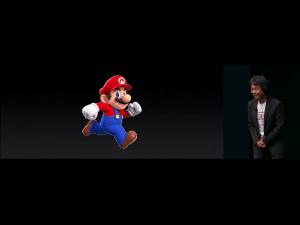Super Mario Run, præsenteret af Nintendo ved Apples september 2016 event (Foto: MereMobil.dk)