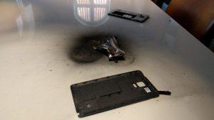 Samsung Note 4 eksploderet hos TV2 i Odense