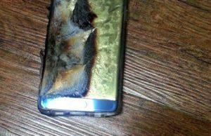 Samsung Galaxy Note 7 med eksploret batteri