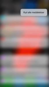 iOS 10 - ryd alle notifikationer (Foto: MereMobil.dk)