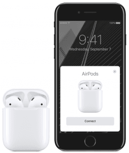 AirPods med iPhone 7 (Foto: Apple)