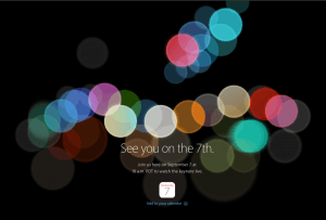Apple event - onsdag den 7. september 2016 (Kilde: Apple)
