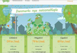 Tjeep abonnementspakker per 14. september 2016 (Foto: MereMobil.dk)