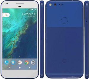 Google Pixel i blå