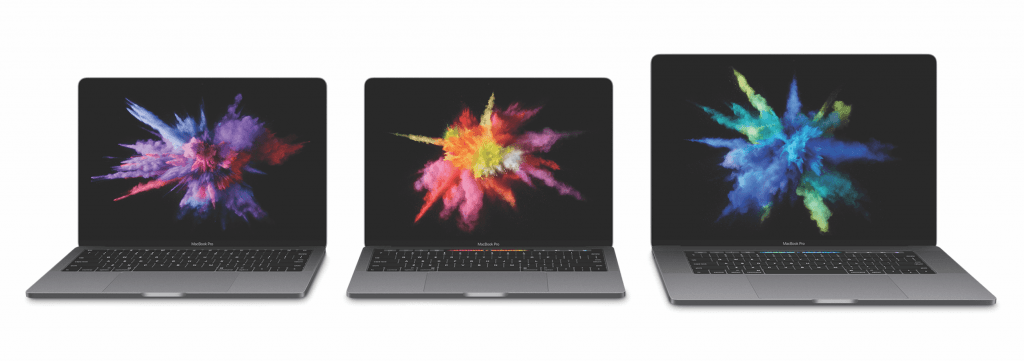 Macbook Pro lineup oktober 2016 (Foto: Apple)