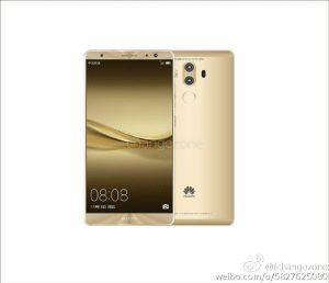 Huawei Mate 9 lækket af Changezone (Kilde: Weibo.com)