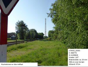 Mulig mobilmast i Skjern centrum (Foto Telcon)