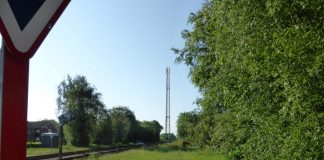 Mulig mobilmast i Skjern centrum (Foto Telenor)
