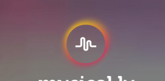 Screenshots fra applikationen Musical.ly