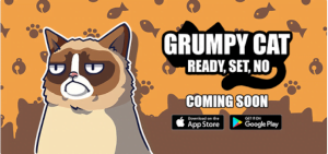 Grumpy Cat er klar til december (kilde: Lucky-Kat.com)