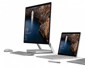 Surface Studio og Surface Book i7 (Foto: Microsoft)