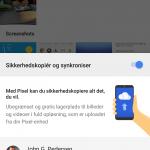Screenshot fra Pixel XL (Foto: MereMobil.dk)