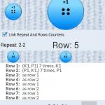 Screenshots fra strikke og hækleven (Kilde: Google Play Store)