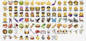 Screenshots af nogle af de nye emojis (Foto: MacRumors.com)