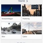 Screenshots fra applikationen Odense Rundt (Kilde: Odense Kommune)