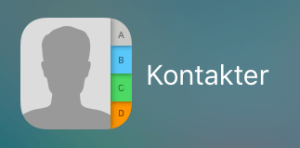 "Screenshots ""kontakter"" iOS"