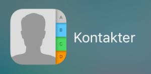 "Screenshots ""kontakter"" iOS"
