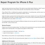 Reparationsprogrammet for problemer med 3D Touch på iPhone 6 Plus (Kilde: Apple.com)