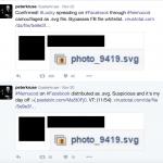 Peter Kruse skriver om virussen på Twitter (Kilde: Twitter)