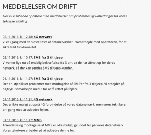 Driftsstatus ved Tjeep 2. november 2016 (Foto: MereMobil.dk)