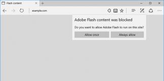 Flash Microsoft Edge