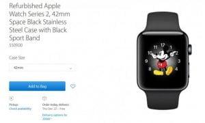 Apple sælger nu genbrugte Apple Watches - både Series 1 og Series 2 (Kilde: Apple.com)