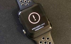 Apple Watch med den fejl opdateringen watchOS 3.1.1 altså kan give (Kilde: GSMArena.com)