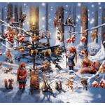 Billeder af e-støttemærket fra Julemærkefonden
