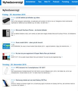 Nyhedsartikler på MereMobil.dk (Foto: MereMobil.dk)
