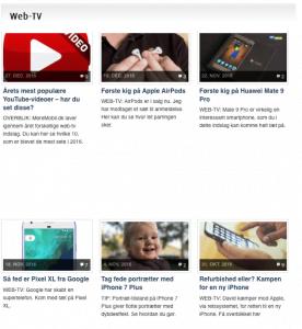 Web-tv artikler på MereMobil.dk (Foto: MereMobil.dk)