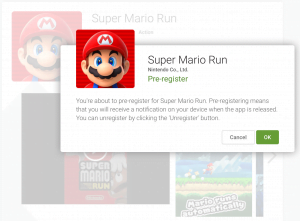Suoer Mario Run pre-registrering (Foto: MereMobil.dk)