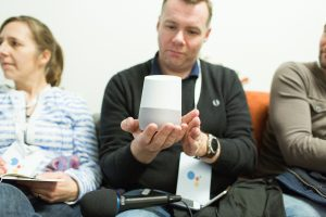 John G. med Google Home, Google Mountainview i Californien - december 2016 (Foto: MereMobil.dk(