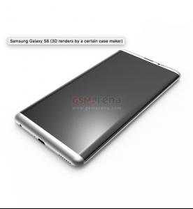 3D-renderinger af Samsung Galaxy S8 (Kilde: GSMArena.com)