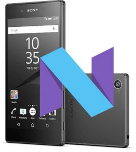 Sony Xperia Z5 Nougat opdatering