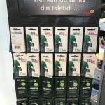 Udvalg af taletidskort hos OK-tanken (Foto: MereMobil.dk)