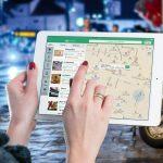 iPad maps rejse