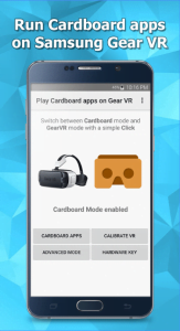 Play Cardboard apps on Gear VR