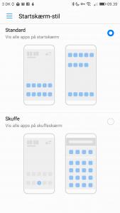 Startskærm-stil Huawei Mate 9 Pro